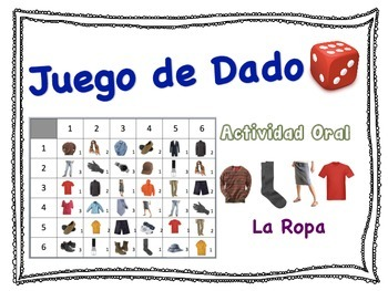 Spanish Clothing Speaking Activity for Small Groups (Quick Prep)