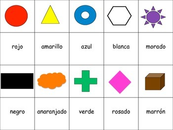 Spanish Color Vocabulary Speaking Activity for Small Groups (Quick Prep)