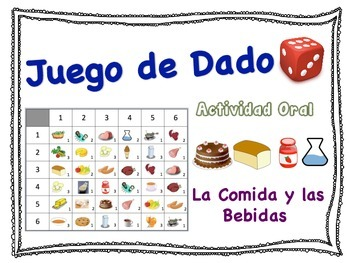Spanish Food and Drink Speaking Activity for Small Groups (Quick Prep)