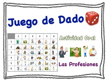 Spanish Jobs and Professions Speaking Activity for Small G