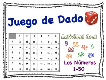 Spanish Numbers 1-50 Speaking Activity for Small Groups (Quick Prep)