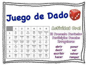 Spanish Present Perfect (Irregular Verbs) Speaking Activit