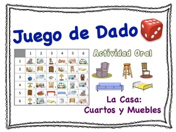 Spanish Rooms and Furniture Speaking Activity for Small Gr