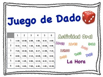Spanish Time Speaking Activity for Small Groups (Quick Prep)