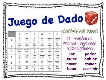Spanish Preterite (Regular & Irregular) Speaking Activity for Small Groups