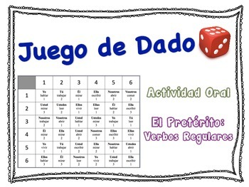 Spanish Preterite (Regular Verbs) Speaking Activity for Small Groups