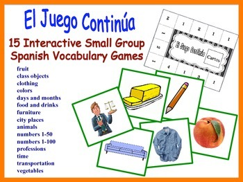 Spanish Small Group Vocabulary Games, Inventive Twist on M