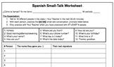 Spanish Small-Talk Worksheet
