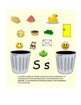 Spanish Smart Board Interactive Activities For Letters M, P, T, L and S