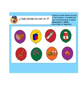 Spanish Smart Board Interactive Activities for letters R,J,Y,Ch  and C