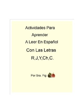Spanish Smart Board Interactive Activities for letters R,J