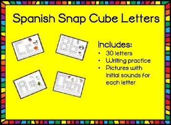 spanish snap cube letter