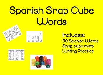 Spanish Snap Cube Words