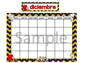 Spanish Snoopy Calendar - Calendario Snoopy