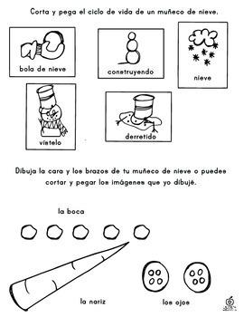 Spanish Snowman Activity