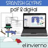 Spanish Snowman Glyph, Hombre de Nieve, Reading Comprehension