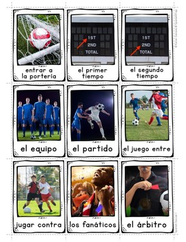 Spanish Soccer 1 Vocabulary Posters & Flashcards with Real Photos
