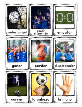 Spanish Soccer 2 Vocabulary Posters & Flashcards with Real Photos