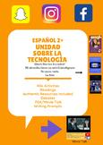 Span 2+Tech/Social Media Bundle: 40+ Activities, Short stories, Writing, Authres