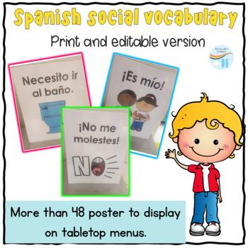 Spanish Social vocabulary  Phrase of the Week Posters - Frase de la semana