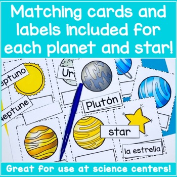 Spanish Solar System Flashcards - ¡El Sistema Solar!