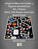 Spanish Solid, Flat Shapes and Lines Board Game / Juego de Mesa de Geometria
