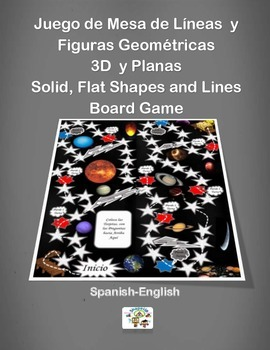 Spanish Solid, Flat Shapes and Lines Board Game / Juego de