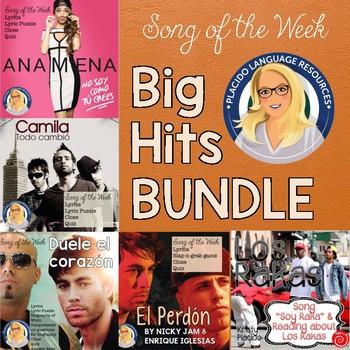 Spanish Song Activities Big Hits Bundle #1