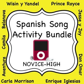 Spanish Song Activity Bundle - Novice High