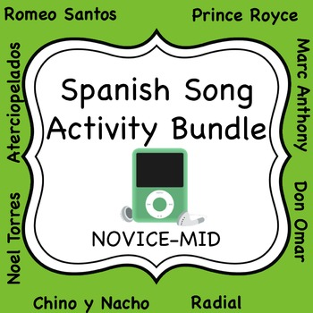 Spanish Song Activity Bundle - Novice Mid
