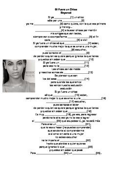 Spanish Song: Beyonce - Si Yo Fuera un Chico