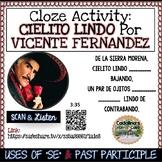 """Spanish Song """" Cielito Lindo """" Letra + Cloze Activity - Se"""