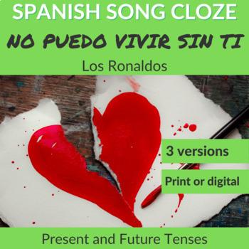 Spanish Song Cloze Los Ronaldos - No Puedo Vivir Sin Ti, PRESENT & FUTURE