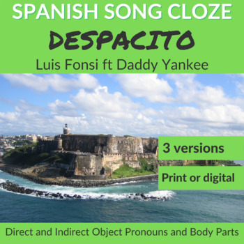 Spanish Song Cloze Luis Fonsi ft Daddy Yankee - Despacito