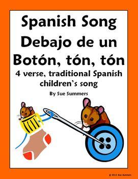 Spanish Song Debajo de un Boton, ton, ton - Traditional Children's Song