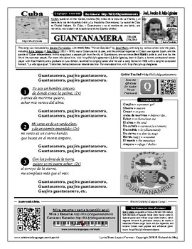 Spanish Song: Guantanamera