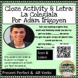Spanish Song La Colegiala Adam Irigoyen Letra + Cloze Acti
