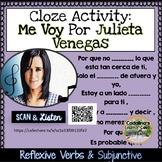 """Spanish Song """" Me Voy """" por Julieta Venegas Letra + Cloze"""