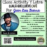 """Spanish Song """" Ojalá que llueva café """" Letra + Cloze Activ"""