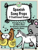 Spanish Song Resources for Kids Printable Props