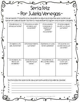 Spanish Song: Sería Feliz - Julieta Venegas - Imperfect Subjunctive/Conditional