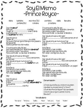 Spanish Song - Soy El Mismo por Prince Royce - Imperfect Practice