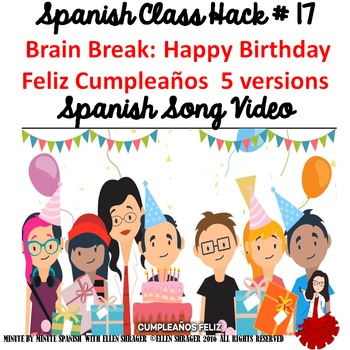 Spanish Song Video Happy Birthday Feliz Cumpleaños - 5 versions