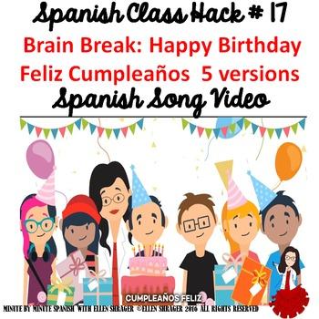 017 Spanish Song Video Happy Birthday Feliz Cumpleaños - 5 versions