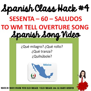 """004 Spanish Song Video """"Sesenta Saludos"""" improves Class Routines and  Behavior"""