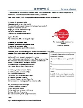 Spanish Song for Commands or Reflexives - SO FUN!
