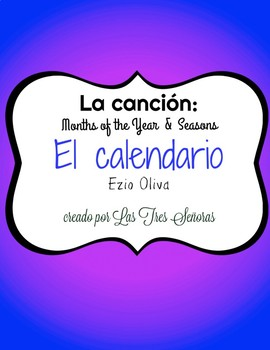 Spanish Song for Seasons and Months of the Year: El calendario