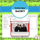 """Spanish Songs:  """"Inténtalo"""" & Possessives Adjectives"""
