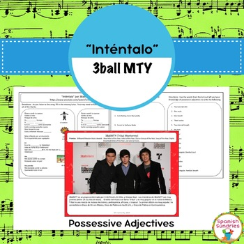 "Spanish Songs:  ""Inténtalo"" & Possessives Adjectives"