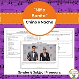 "Spanish Songs:  ""Niña Bonita""with Gender & Subject Pronouns"